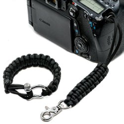 """Black"" Camera Strap System Silver Hardware - Osiris & Co."