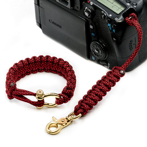 """Red Diamond"" Camera Strap System Gold Hardware - Osiris & Co."