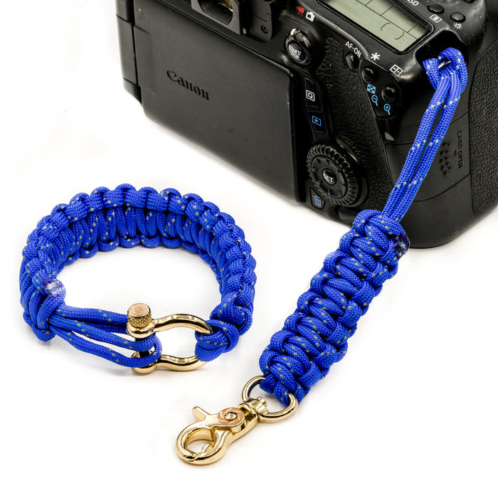 """Poseidon"" *Reflective* Camera Strap System Gold Hardware - Osiris & Co."
