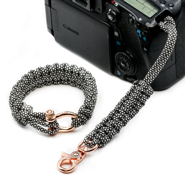 """Diamond"" Camera Strap System Rose Gold Hardware - Osiris & Co."