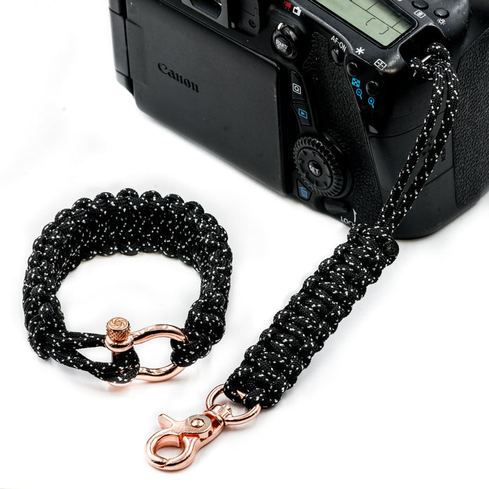 """007"" Camera Strap System Rose Gold Hardware - Osiris & Co."