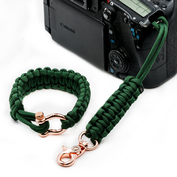 """Oz"" Camera Strap System Rose Gold Hardware - Osiris & Co."