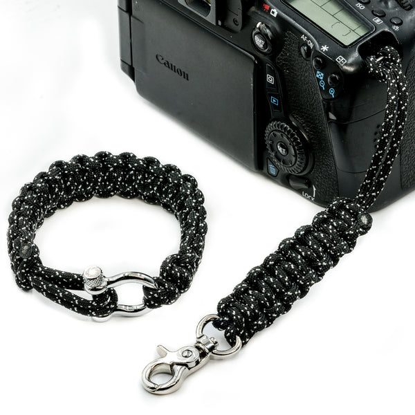 """007"" Camera Strap System Silver Hardware - Osiris & Co."