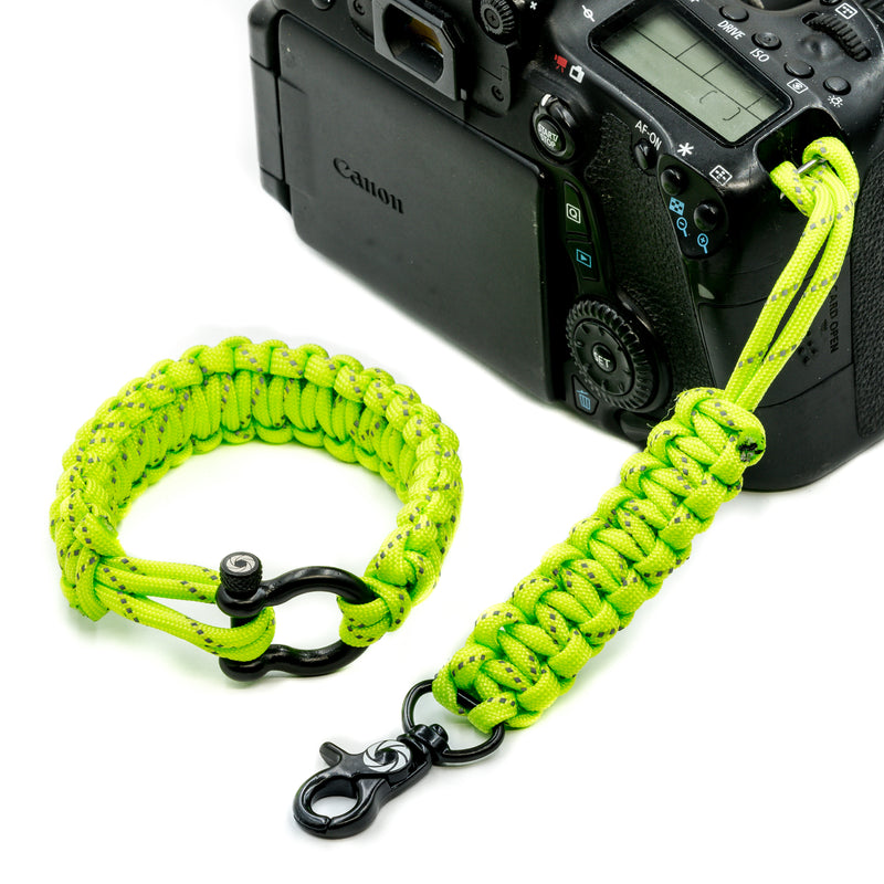 """High Visibility"" *Reflective Tracer* Camera Strap System Black Hardware - Osiris & Co."