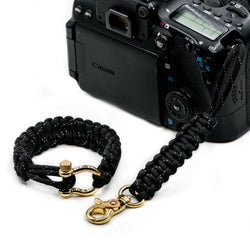 """Stealth"" *Reflective* Camera Strap System Gold Hardware - Osiris & Co."