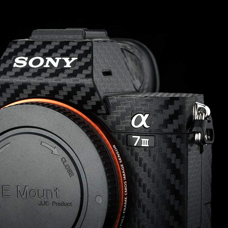 """Carbon Fiber"" Skin Protector for Sony Alpha A7III - Osiris & Co."