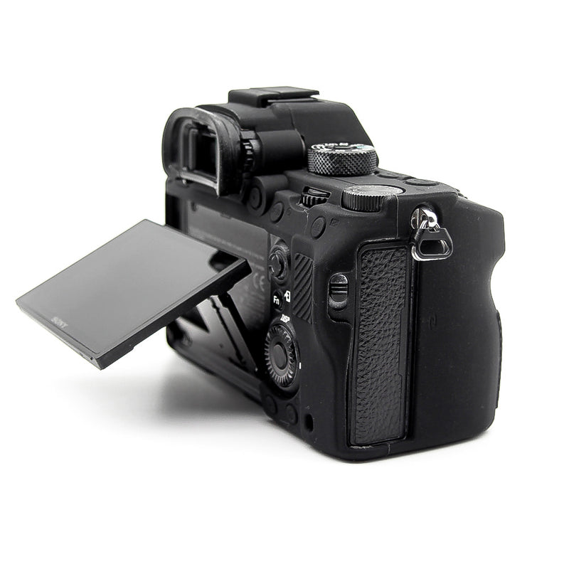 """Black"" Armor Skin Case Body Cover Protector for Sony Alpha A7 III / A7R III / A9 - Osiris & Co."
