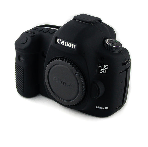 """Black"" Silicone Armor Skin Case Body Cover Protector for Canon EOS 5D Mark III / 5DS / 5DR - Osiris & Co."