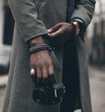 """Graphite"" Complete Camera Strap System Black Hardware - Osiris & Co."