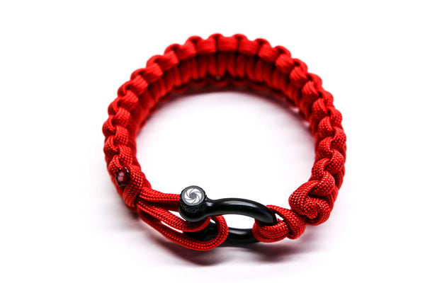 """Valor Red"" Bracelet Black Hardware - Osiris & Co."