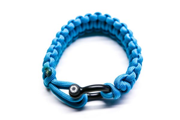 """Sky Blue"" Bracelet Black Hardware - Osiris & Co."