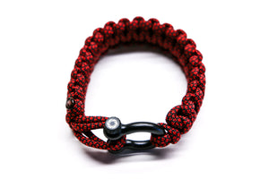 """Red Diamond"" Osiris & Co. Bracelet Black Hardware - Osiris & Co."