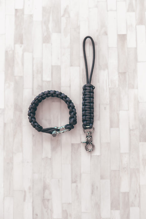 """Graphite"" Camera Strap System Silver Hardware - Osiris & Co."