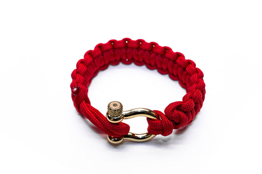 """Valor Red"" Bracelet Gold Hardware - Osiris & Co."