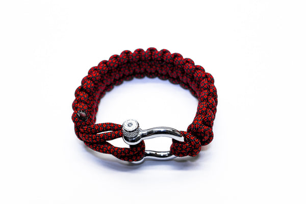 """Red Diamond"" Bracelet Silver Hardware - Osiris & Co."