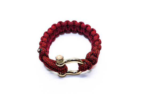 """Red Diamond"" Bracelet Gold Hardware - Osiris & Co."