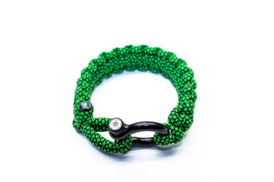 """Green Diamond"" Osiris & Co. Bracelet Black Hardware - Osiris & Co."