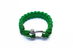 """Green Diamond"" Osiris & Co. Bracelet Silver Hardware - Osiris & Co."