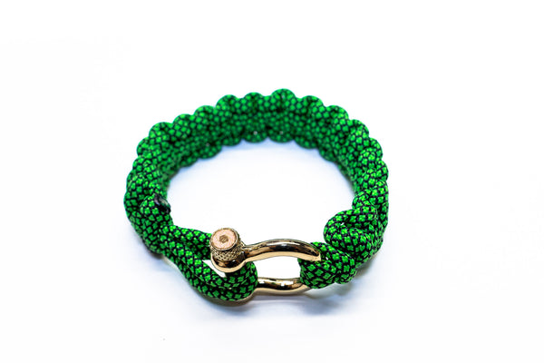 """Green Diamond"" Bracelet Gold Hardware - Osiris & Co."