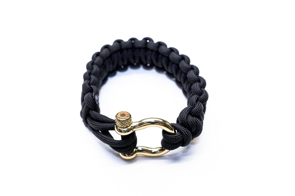 """Black"" Osiris & Co. Bracelet Gold Hardware - Osiris & Co."