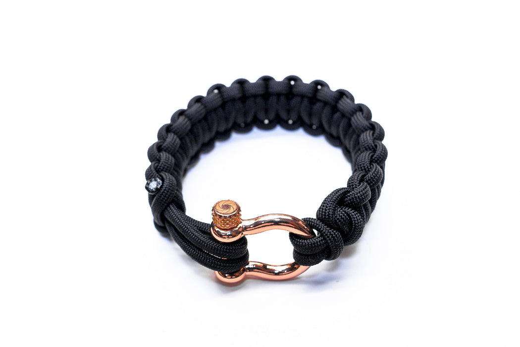 """Black"" Osiris & Co. Bracelet Rose Gold Hardware - Osiris & Co."
