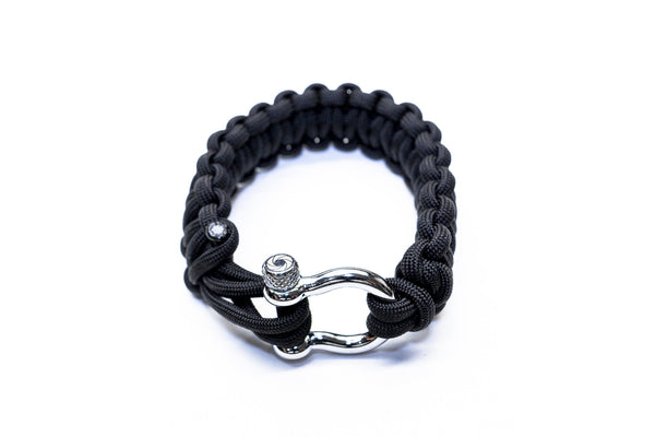 """Black"" Osiris & Co. Bracelet Silver Hardware - Osiris & Co."