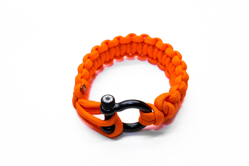 """Orange Flare"" Bracelet Black Hardware - Osiris & Co."