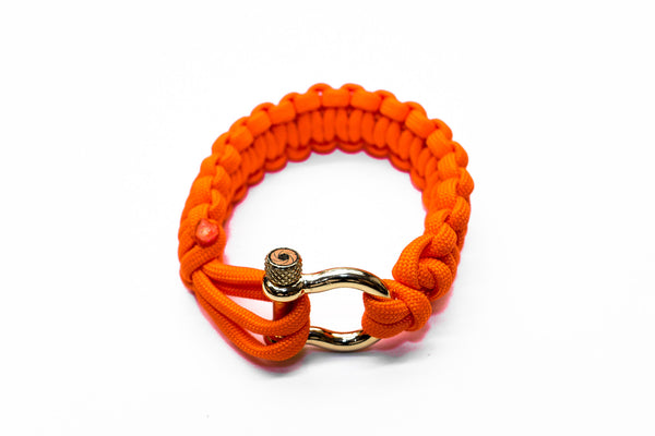 """Orange Flare"" Bracelet Gold Hardware - Osiris & Co."