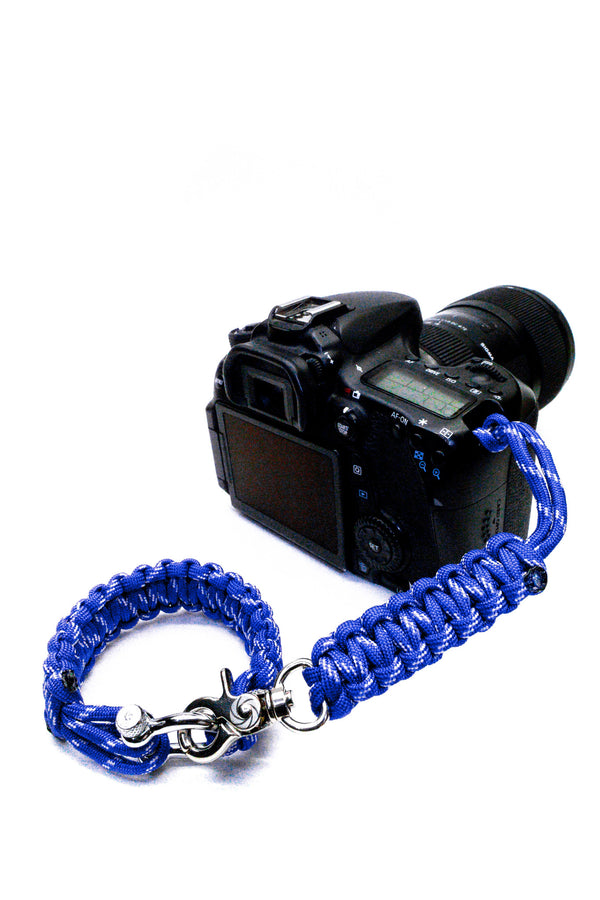 """Poseidon"" *Reflective* Camera Strap System Silver Hardware - Osiris & Co."