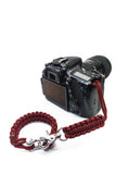 """Red Diamond"" Complete Camera Strap System Silver Hardware - Osiris & Co."