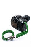 """Green Diamond"" Complete Camera Strap System Silver Hardware - Osiris & Co."