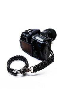 """007"" Complete Camera Strap System Silver Hardware - Osiris & Co."