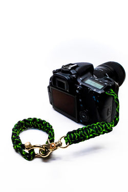 """Poison"" Camera Strap System Gold Hardware - Osiris & Co."