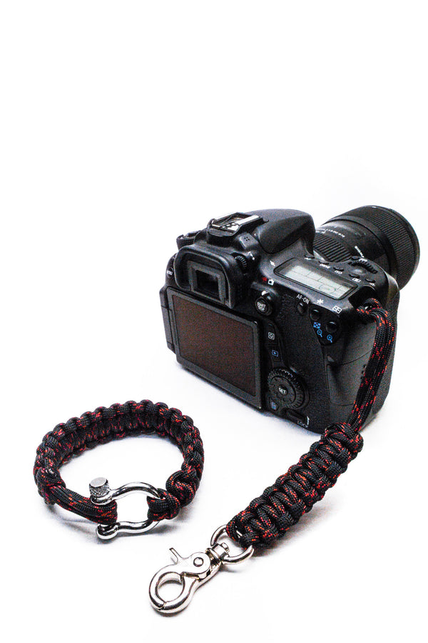 """Venom"" Camera Strap System Silver Hardware - Osiris & Co."