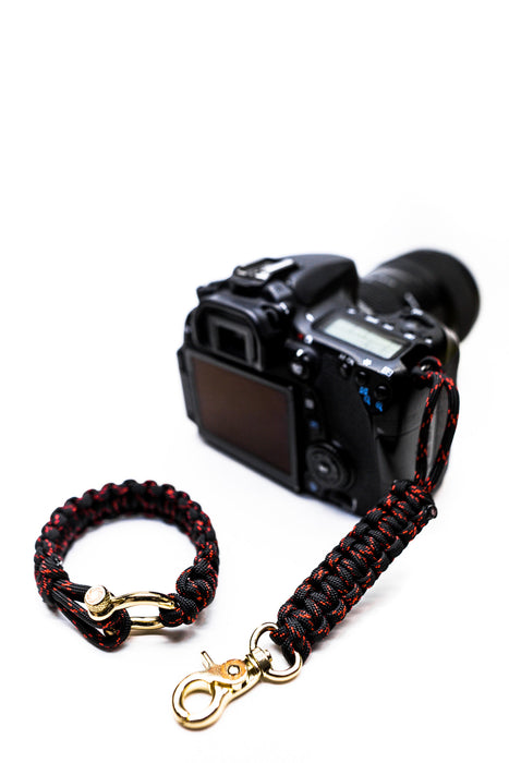 """Venom"" Camera Strap System Gold Hardware - Osiris & Co."