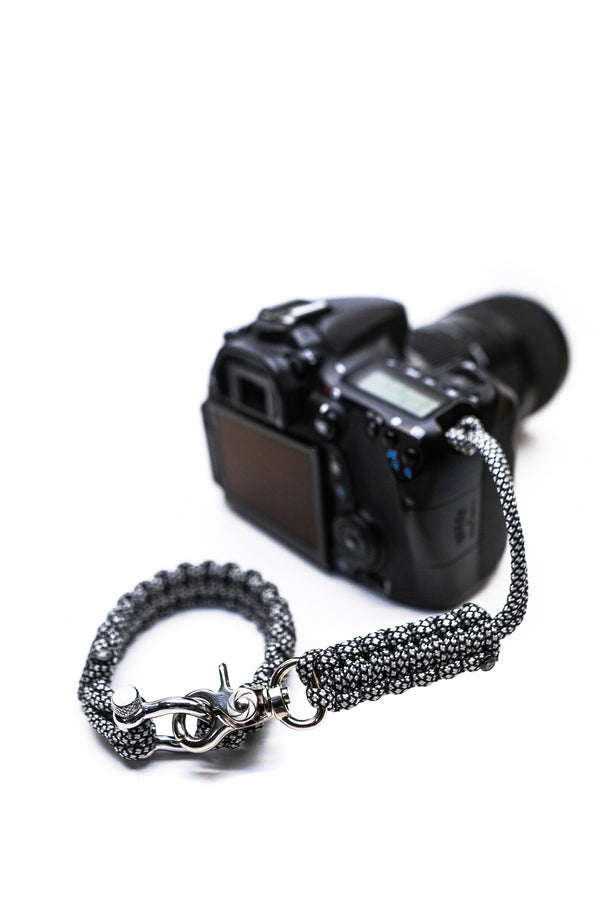 """Diamond"" Camera Strap System Silver Hardware - Osiris & Co."