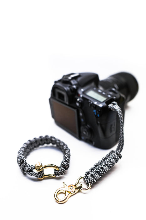 """Diamond"" Camera Strap System Gold Hardware - Osiris & Co."