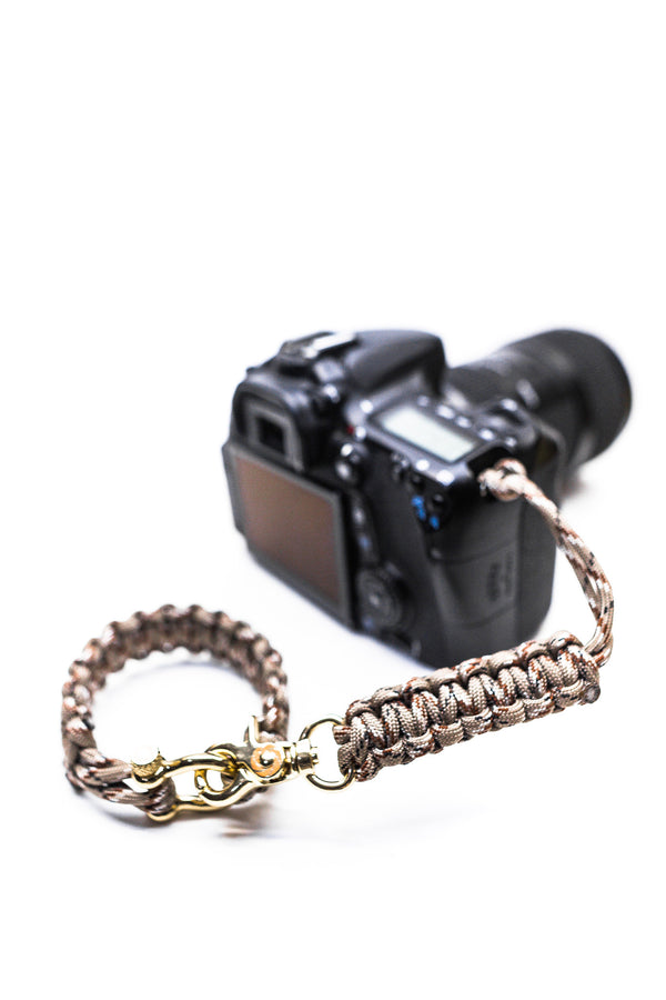 """Desert Fox"" Camera Strap System Gold Hardware - Osiris & Co."