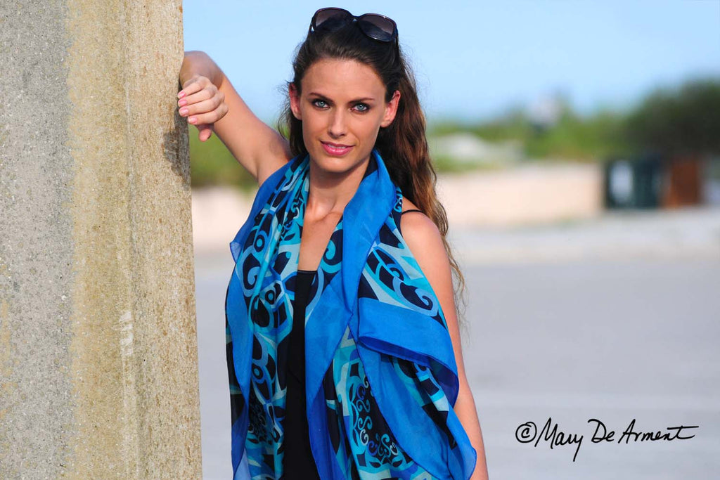 Classic Oversized Silk Chiffon Scarves
