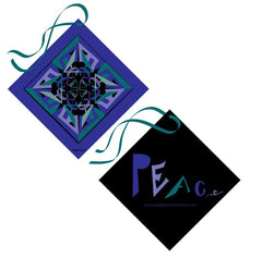 peace scarf black blue scarves cashmere luxe gift