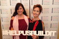 mary DeArment Victoria Caspari Sambursky NWHM #helpusbuildit Women Making History silk cashmere scarves custom scarf luxury accessory luxe gift