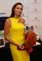 Minnie Driver Emmy Gifting Suite luxury accessory luxe gift custom designs silk cashmere chiffon scarves scarf designer fashion mary DeArment