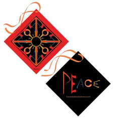 Peace is warm global peace socially conscious fashion world citizen global consciousness mary DeArment custom designs scarf scarves cashmere silk corporate gifts millennial