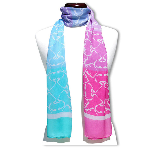 "Arabic Peace Pastel MODAL CASHMERE LUXE SCARF 20x68"" - Scarves by Mary DeArment - 1"