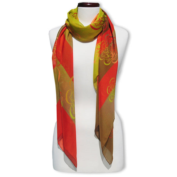 "DANCE - SILK CHIFFON OVERSIZED 54x54"" SCARF - Scarves by Mary DeArment - 1"