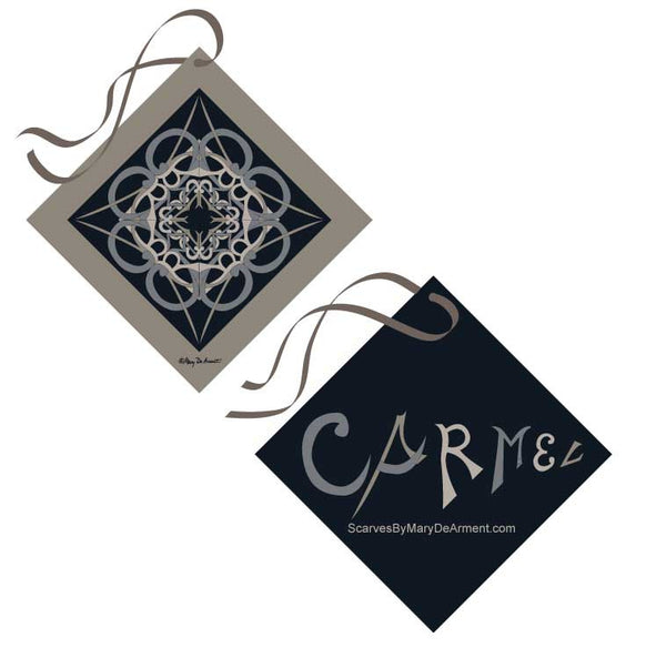 "CARMEL CITY SILK SCARF - 36x36"" - Scarves by Mary DeArment - 7"