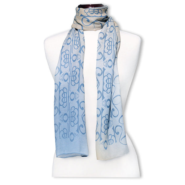 "Peace is Shalom MODAL CASHMERE LUXE SCARF 20x68"" - Scarves by Mary DeArment - 1"