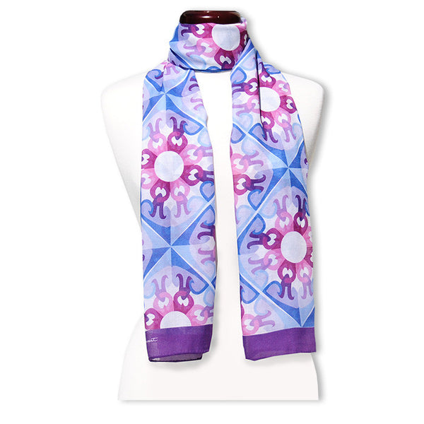 "Peace is a Flower MODAL CASHMERE LUXE SCARF 20x68"" - Scarves by Mary DeArment - 1"