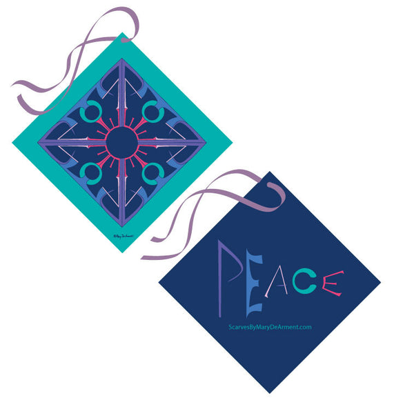 "Peace is Complex MODAL CASHMERE LUXE SCARF 20x68"" - Scarves by Mary DeArment - 9"