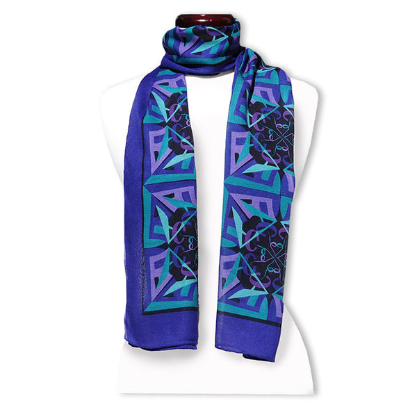"Peace out of Darkness MODAL CASHMERE LUXE SCARF 20x68"" - Scarves by Mary DeArment - 1"